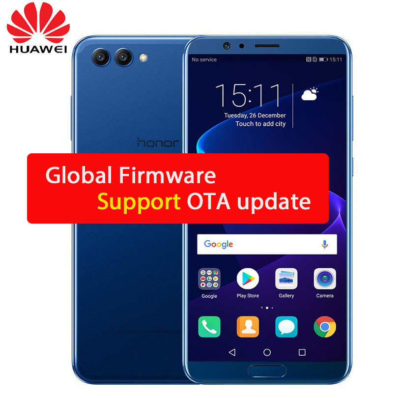 Глобальный Rom huawei Honor View 10  V10 6 ГБ 128 ГБ AI смартфон Kirin 970 Octa Core ОТА NFC 5,99″ 1080×2160 P Android 8,0 мобильный телефон