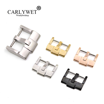 CARLYWET 18mm Hot Wholesale New Silver Brushed Gold Polished Stainless Steel High quality Pin Watch Buckle Clasp without logo