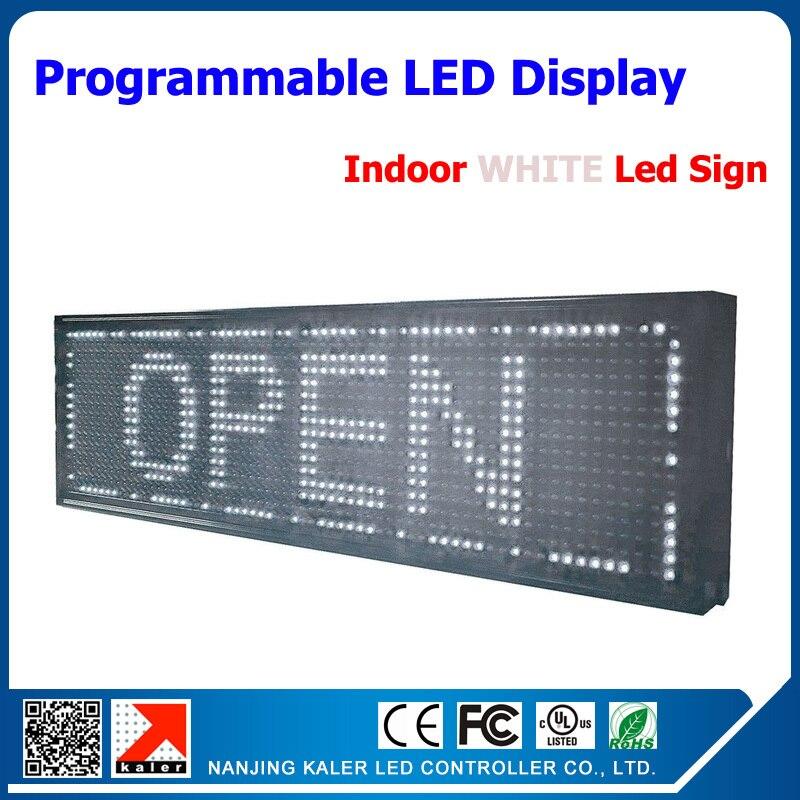 P10 реклама светодиодная вывеска высокий яркий белый светодиодный экран вывеска 32*16 точечная Матрица светодиодная прокрутка доска дисплея с