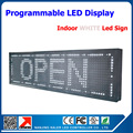 P10 advertising led sign board high bright white led screen sign 32*16 dot matrix led scrolling message display board