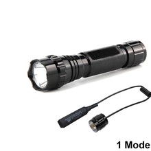 Classic Black Tactical Flashlight XP-L V6 1mode1000lm LED 18650 Battery Camping Hunting Light