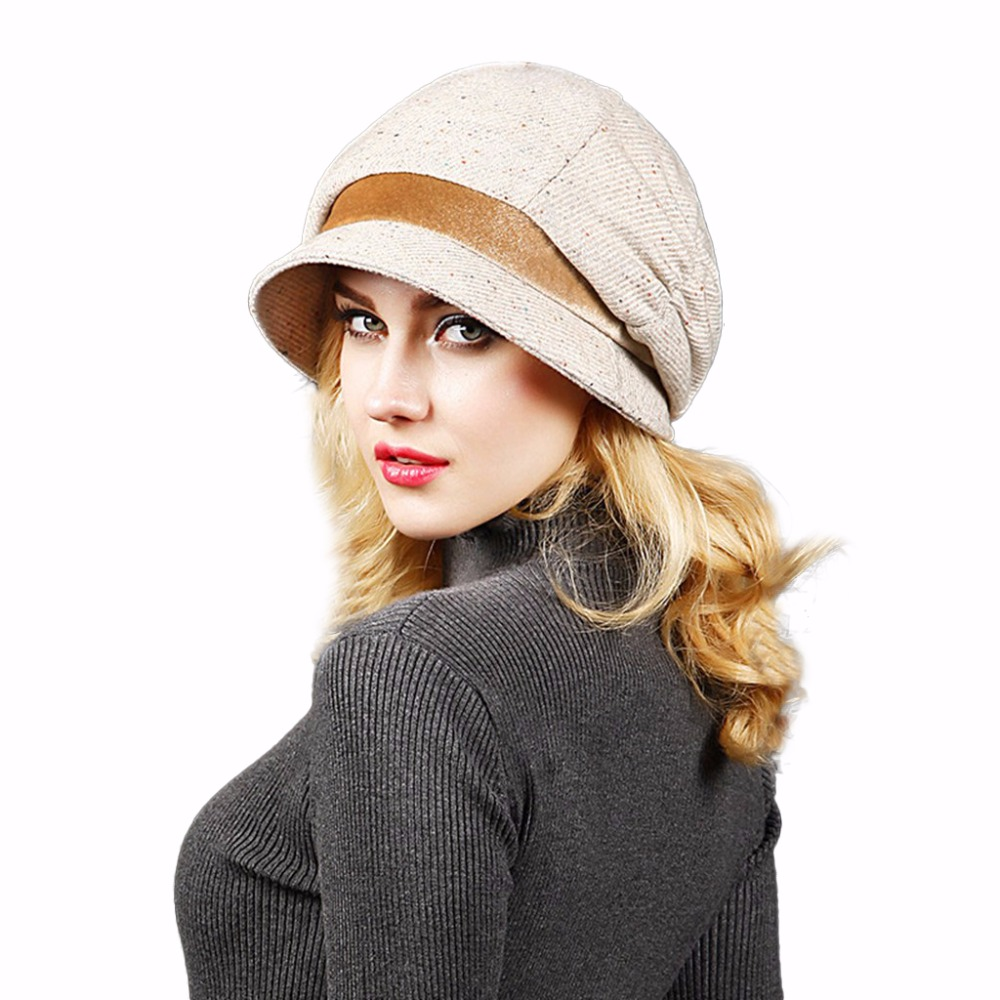 Fashion Fall Winter Women's Fedora For Woman Lady Wool bucket hat Warm Fedora C for Woman