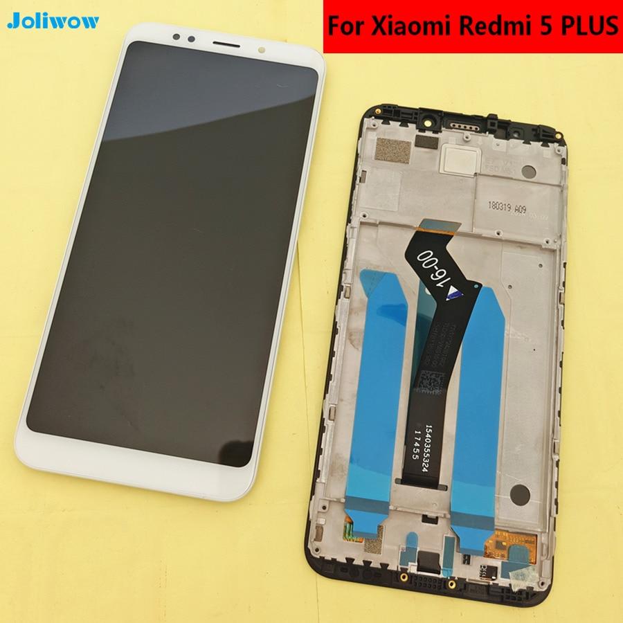 Testé! 5.99 pour Xiaomi Redmi 5 Plus Ecran lcd + Écran Tactile + Cadre Digitizer Assemblée Remplacement Accessoires Pour Redmi5 PLUS