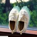 Estilo verão Novo 2016 Doce Princesa Rendas Sapatos Meninas Sapatilhas Flats Crianças Respiráveis Macios Sapatos #2163