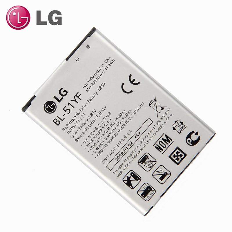Новый оригинальный аккумулятор LG BL-51YF для LG G4 H815 H818 H810 VS999 F500 3000mAh