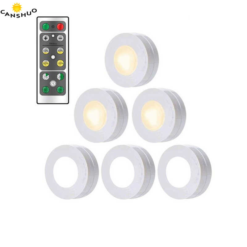 LED Night Light Wireless Portable Remote Control Battery Powered Touch Sensor Under Cabinet Lights For Kitchen Closet Wall Lamp