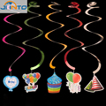 Top Fashion Baby Shower Birthday Party Decorations Kids Spiral Garland Ornament Supplies Partido Decoration New Arrival
