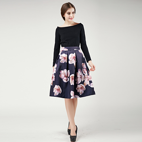 Flower Skirts Autumn Women's Skirt Trendy Skirts Outfits Floral ...