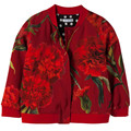 New Girls baby red carnation printed jacquard jacket zipper children's wear coat wholesale 2016