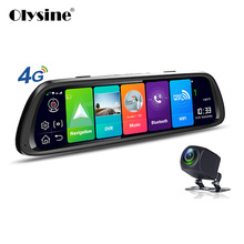 Olysine 10 «Android 8,1 Автомобильный dvr 4 г Wi Fi gps навигатор видеорегистратор поток медиа Full HD 1080 P зеркало заднего вида видео регистраторы