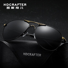 HDCRAFTER Polarized mens sunglasses brand designer driving retro Vintage Eyewear Accessories Aviation Sun Glasses For Men shades