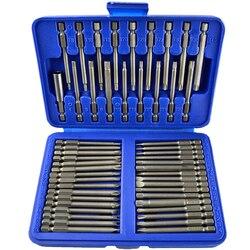 50 sztuk Hex gwiazda Torx bardzo długie bezpieczeństwa bity Spline płaski śrubokręt zestaw 6 20|Zestawy narzędzi ręcznych|Narzędzia -