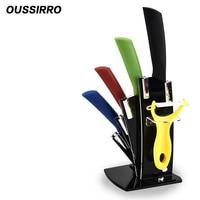 Kitchen Five Sets Of Ceramic Knives Melon Sharp Knife Antioxidant Durable Fruit Knife