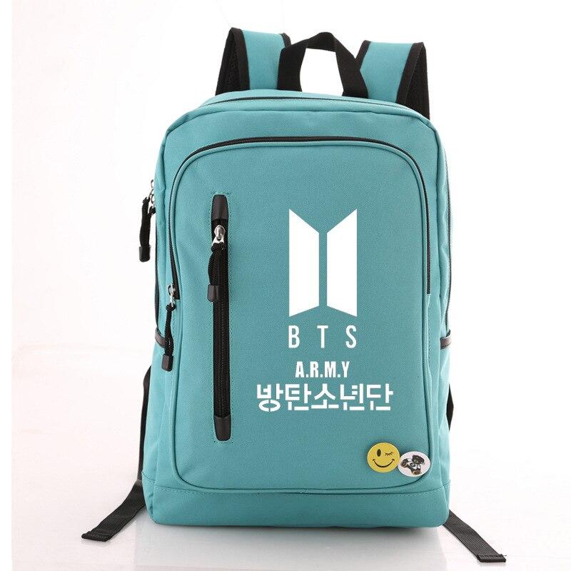 High Quality 2018 Bangtan Boys A.R.M.Y BTS Printing Backpack Canvas School Backpack Men Travel Bag BTS Laptop Backpack Rucksack сумка asics 134934 1087 bts backpack