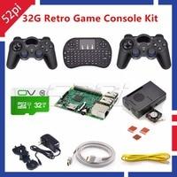 52Pi 2017 Raspberry Pi 3 Model B 32GB RetroPie Game Kit With Wireless Controllers Gamepad Power
