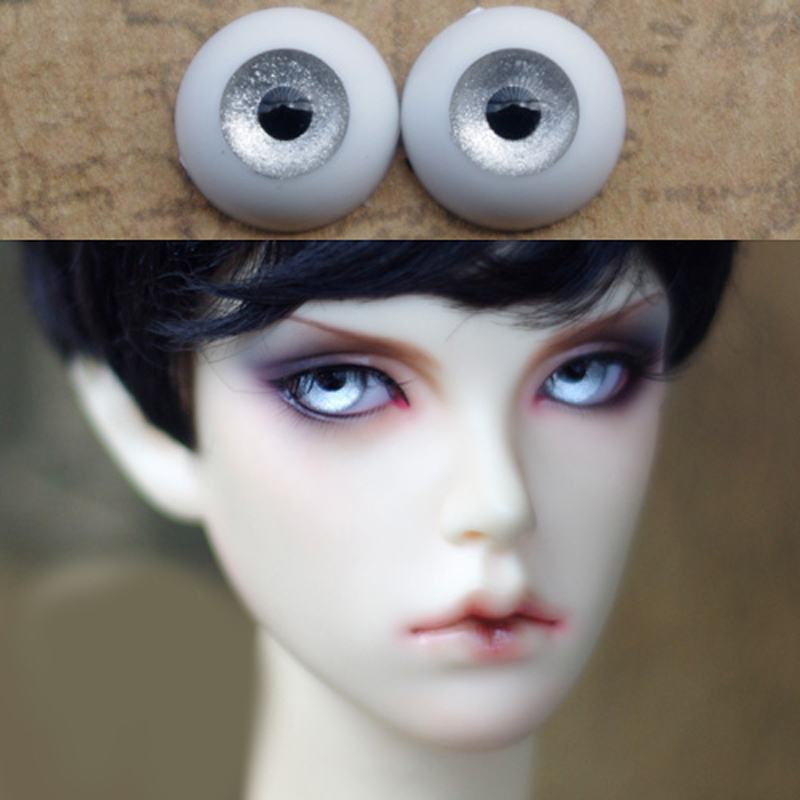 Gray Silver Color Bjd Eyes for BJD Dolls toys eyeball for 1/3  1/4 1/6 SD Dolls 16mm 18mm 20mm 22mm Acrylic EYEs for toys A pair 1 3 1 4 1 6 1 8 1 12 bjd wigs fashion light gray fur wig bjd sd short wig for diy dollfie