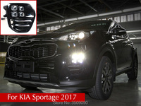For KIA Sportage 2017 Car Day Running Light DRL Daytime Running Lights With Fog Lamp Hole
