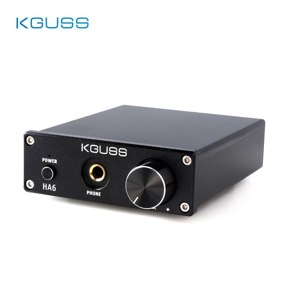 KGUSS HA6 Classe D TPA3116D2 NE5532 MINI HIFI High Power Audio Amplifier with Headphone Output AMP 50W*2 Amplificador kguss hc502 50w 2 hifi tpa3116d2 power amplifier bluetooth 4 2 stereo mini digital amplifier