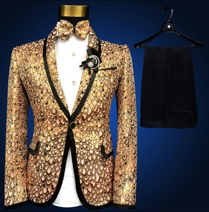 Men Suits Designs Masculino Homme Terno Stage Costumes For Singers Men Sequin Blazer Dance Clothes Jacket Style Dress Punk Rock