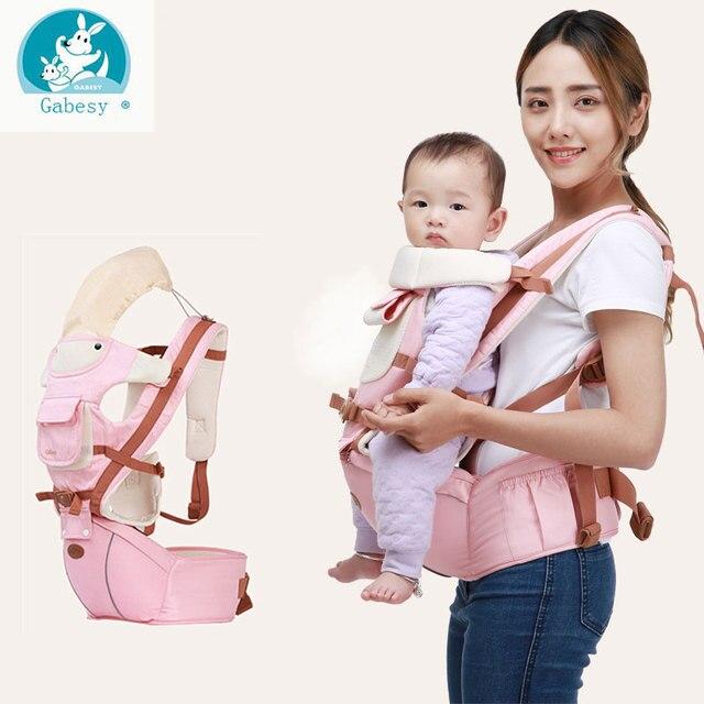 Gabesy Respirant Avant Face Porte-Bébé Infantile Confortable Sling Backpack  Pouch Wrap Bébé Kangourou Nouveau 14ea7989611