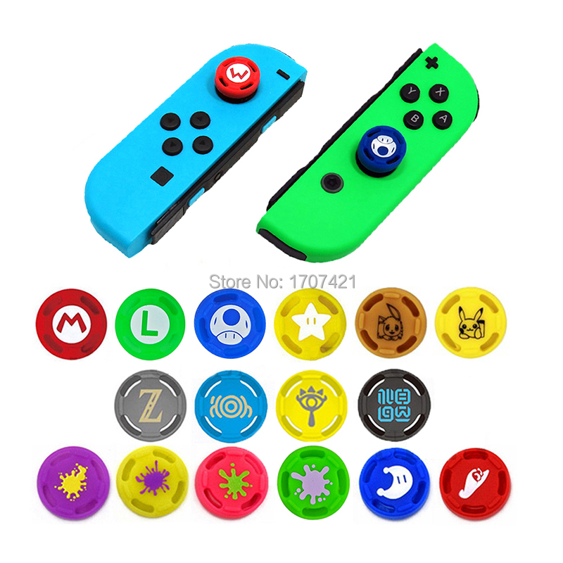 200 pcs for Joy Con Silicone Joystick Thumb Stick Grip Cover Case Analog Caps for Nintend
