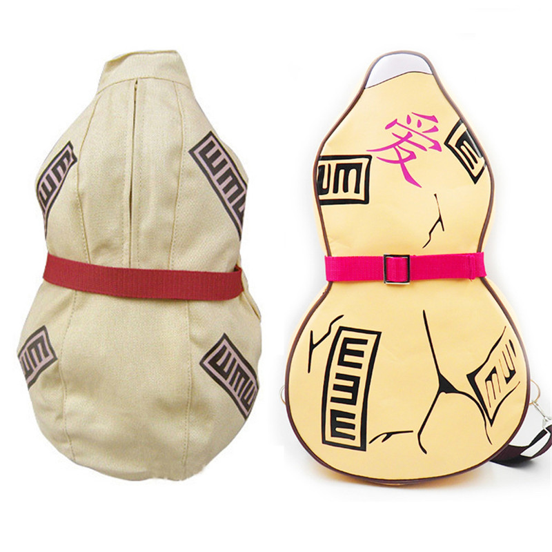 Japan Anime Naruto Sabaku No Gaara Backpack Gourd Cosplay Shoulder Bag Backpacks Canvas PU Halloween Props Gifts