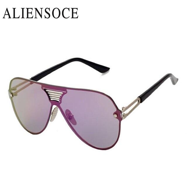 50b6567a11f19 New escudo de grandes dimensões aviação óculos de sol revestimento dos  homens das mulheres de uma