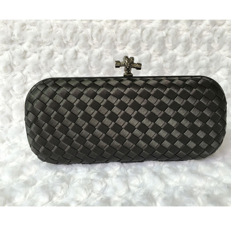 Women Bag Hand  Weave Knot 2019 New Woman Evening Clutch Purse Brand Designer Knitted Female Chain Shoulder Bag  Wedding Bags(China)