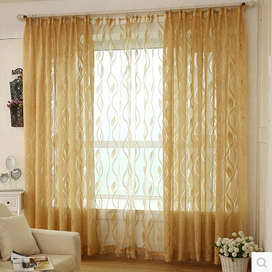 Hollow Deco Thick Thin Tulle Yarn Voile Blind Curtains For Living Room