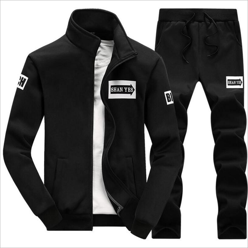 Men Autumn Tracksuit Sportswear Sets Men Hooded Sweatshirts+Sweatpants Sweat Suits New Male Casual Hoodies Sets Size 4XL