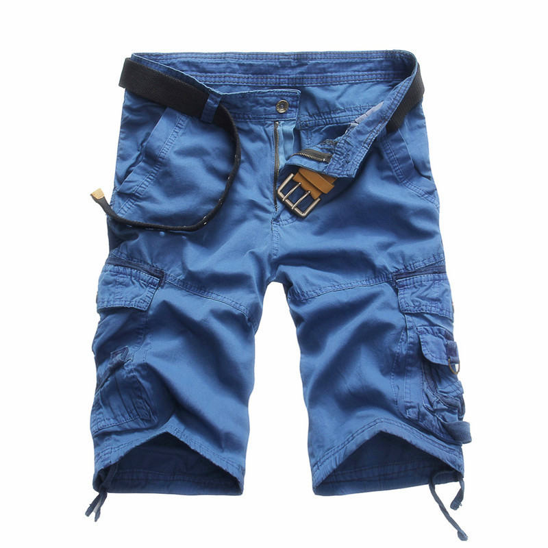 New Military Cargo Shorts Men Summer Top Design Camouflage Military Casual Shorts Homme Cotton Fashion Brand Clothing
