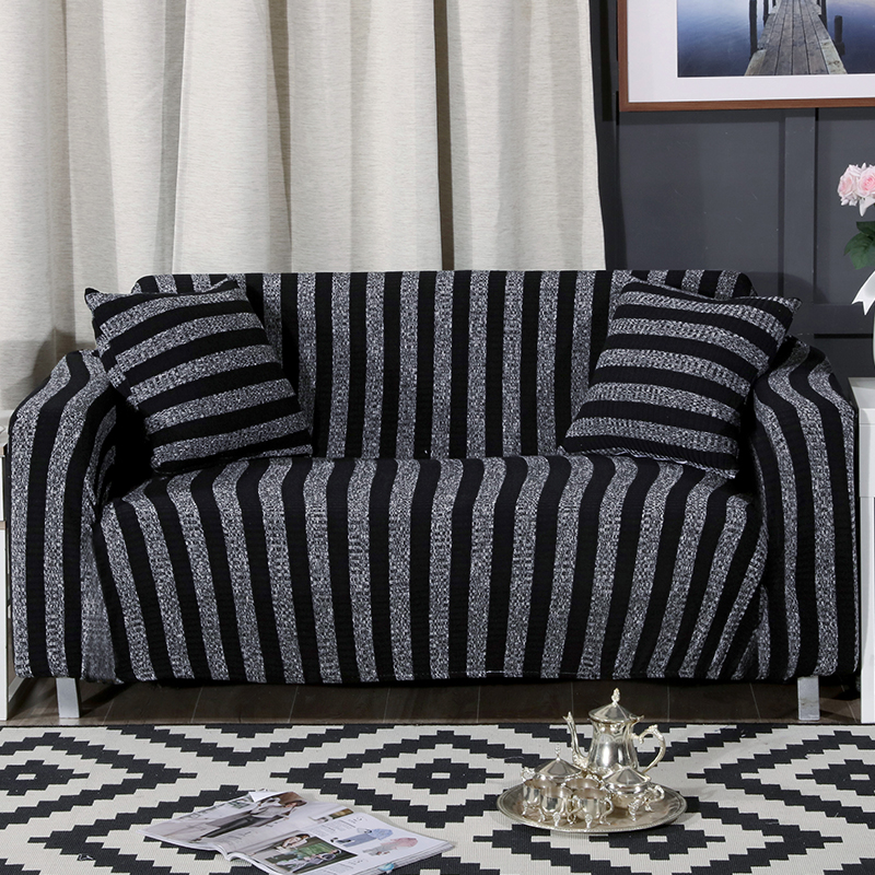 US $33.62 59% OFF|Black Stripes Couch Sofa Covers For Living Room Home  Decoration Multi size Corner Sofa Slipcovers Tight Wrap All inclusive  Cover-in ...