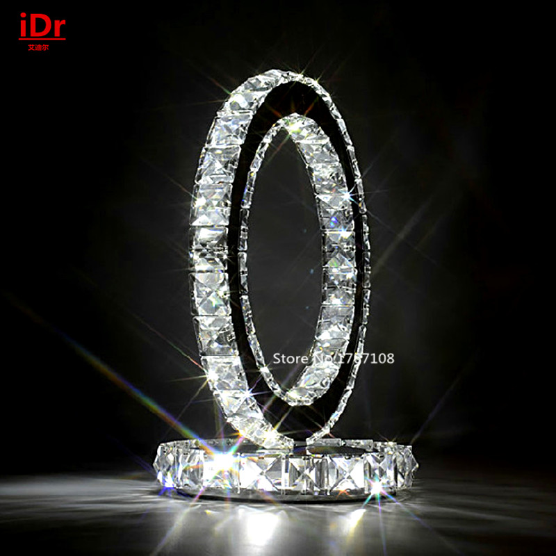 Contemporary Living Room Led Table Lamps Warm Bedroom Modern Crystal Table  Light Upscale Atmosphere D220xH240mm(