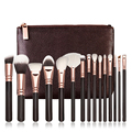 New Professional 15pcs Rose Golden/Pink Makeup Brushes Set Cosmetic Make Up Tools Kit Powder Foundation Eyes Brush with bag