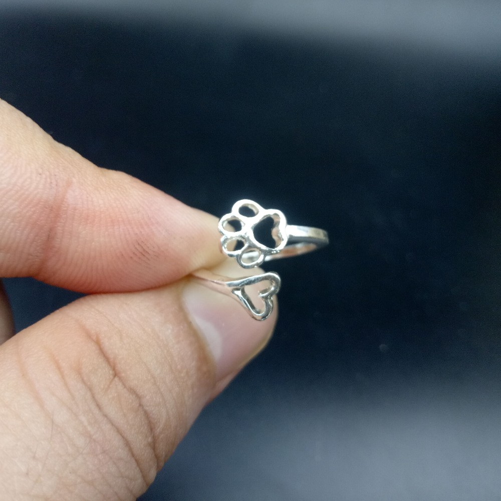 1pcs dropshipping simple design paw and ring