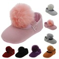 Hot sell! baby girl shoes new born soft sole pink white black red bobbles first walker home shoes size 2 3 4 in US Hy311
