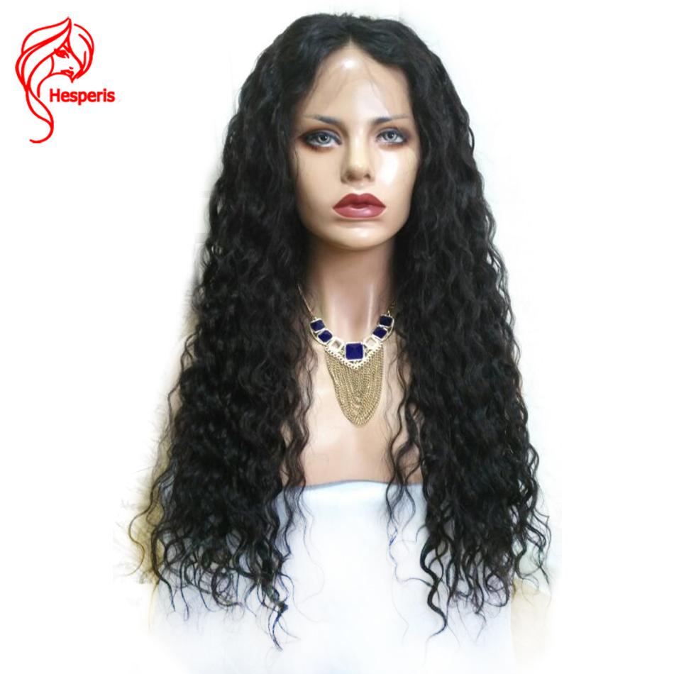 Hesperis Brazilian Hair Water Wave Lace Wigs For Black Women Lace Front Human Hair Wigs With Baby Hair Remy Hair Wig