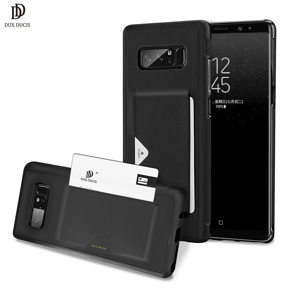 DUX DUCIS PU Leather Card Case for Samsung Galaxy Note 8 Wallet Card Slot Back Cover for Samsung