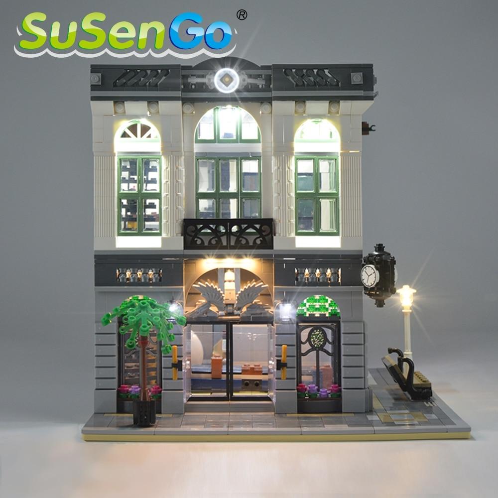 SuSenGo LED fénykészlet a Creator Brick Bank 10251 világítási készlethez