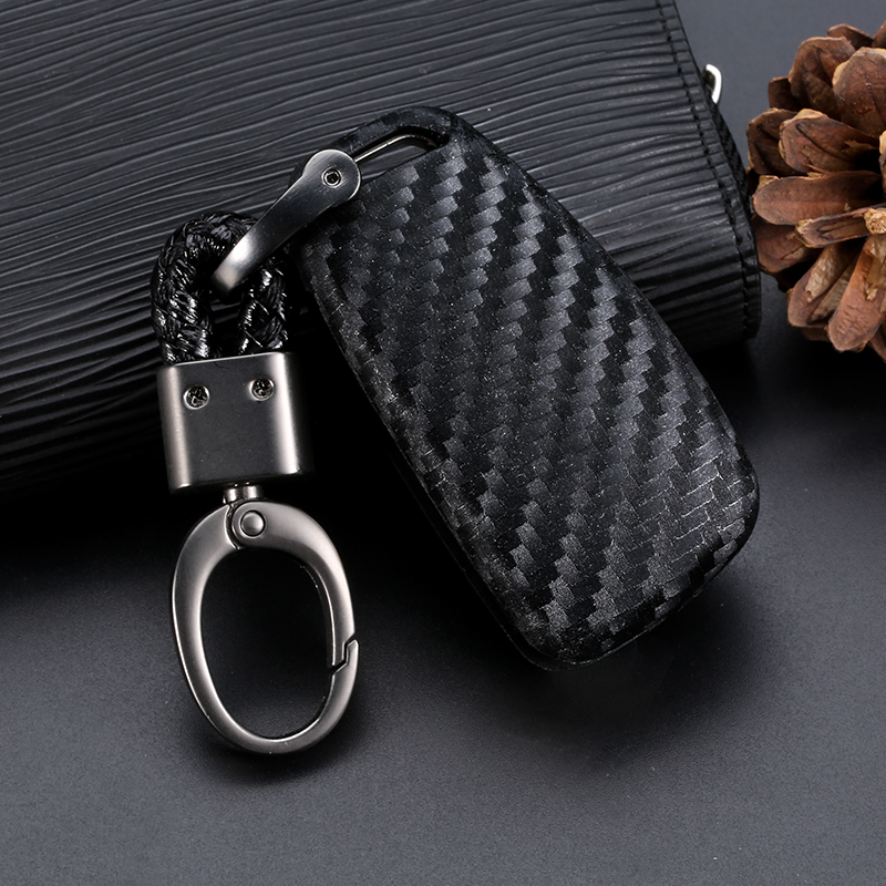 Car Key Case Cover Carbon Fiber For Audi A3 A4 A4L B5 B6 B7 B8 B9 A5 A6 A6L C5 C6 Q3 Q5 Q7 S5 S7 RS3 TT Car key Shell Protecor