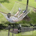 """78""""x 59""""Comfortable White Cotton Rope Swing Double Hammock Hanging 2 Person OP2649"""