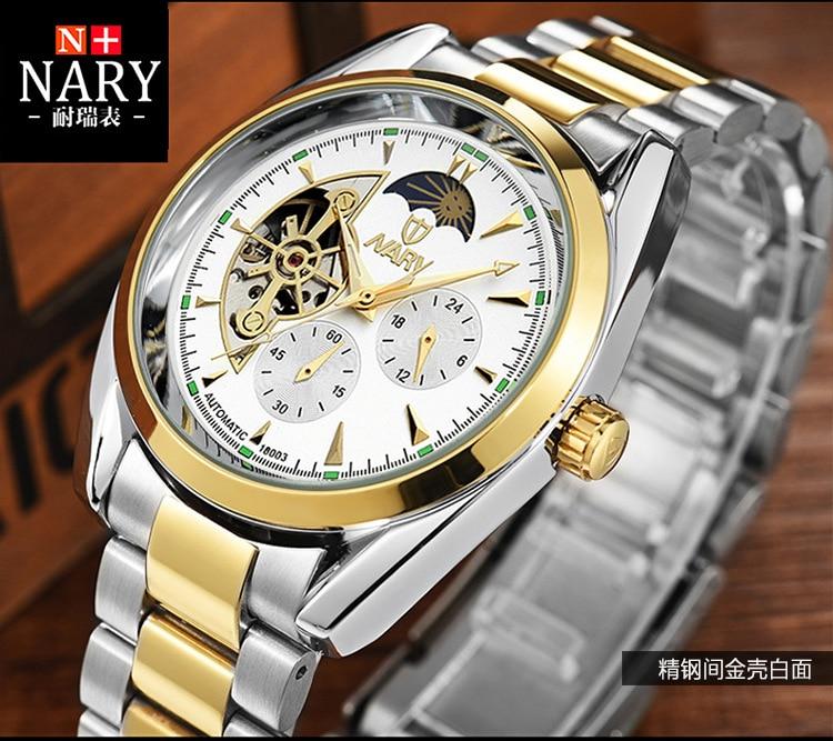 DIDUN montre hommes de luxe en acier quartz montre hommes d'affaires chronographe montre sport montres 30 M étanche - 2