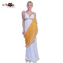 Karnawał średniowieczna sukienka kostiumy damskie seksowna grecka rzymska dama egipska Cleopatra kostium bogini suknia renesansowa Cosplay