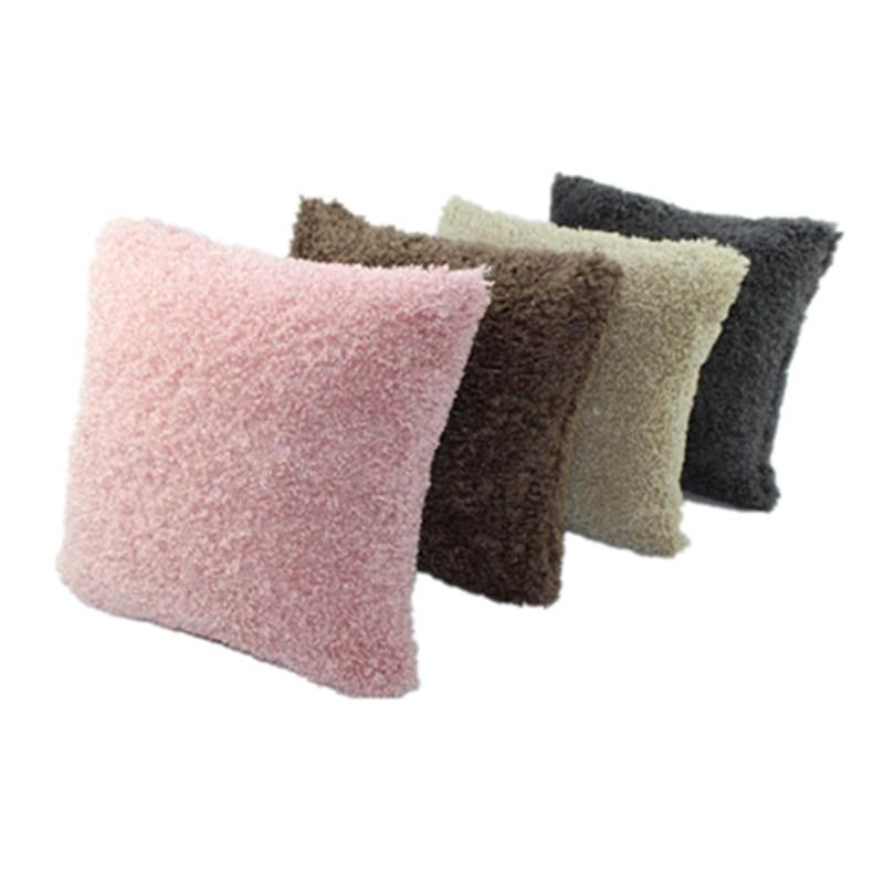 Cheap New Product Pure Soft Plush Faux fur Wholesale Decorative Cushion Cover Throw Pillows For Sofa Car Chair Hotel Home Decor