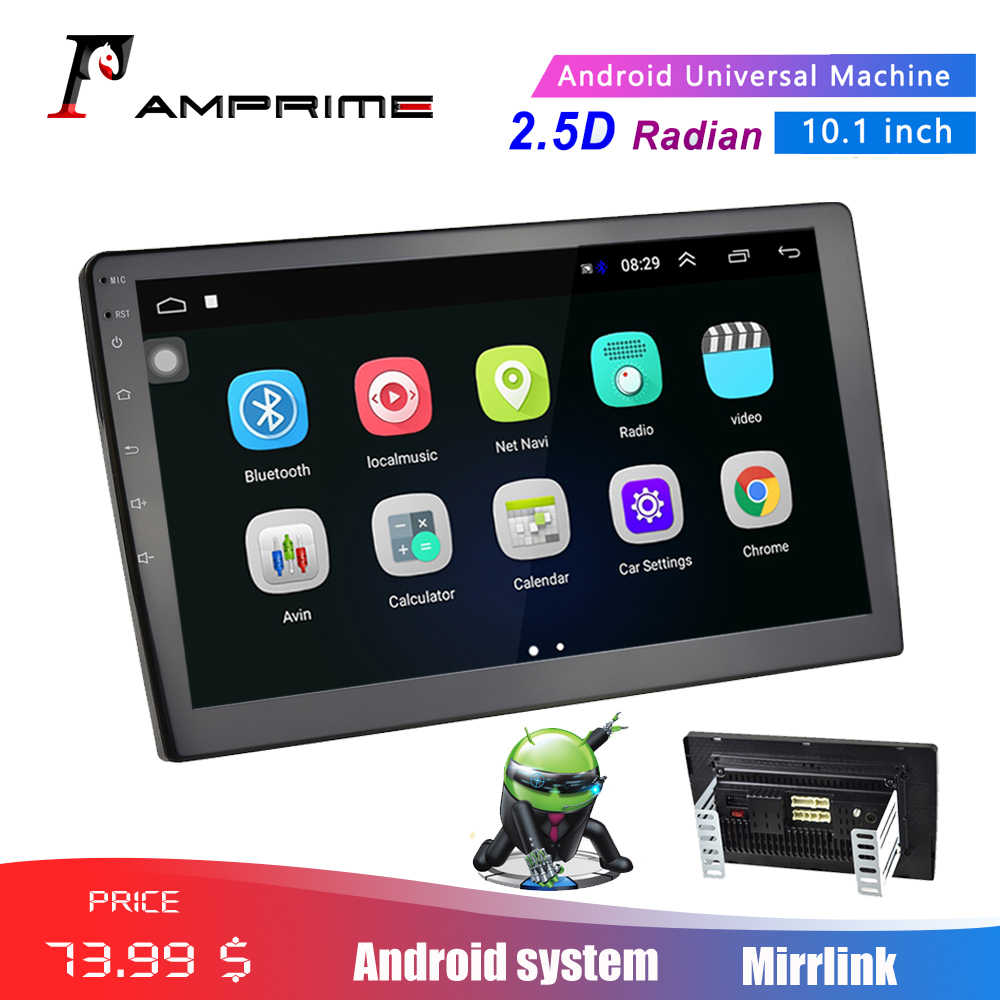 "AMPrime 10,1 ""Android reproductor Multimedia 2 din auto Radio estéreo Bluetooth WIFI Audio enlace MP5 jugador con cámara"