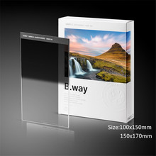 B.way Square GND 0.9/1.2 HARD(s) EDGE Gradient Neutral Density Camera Filter 100x150mm 150x170mm nisi 150 170mm square soft gradial gradient graduated gray neutral density filter gnd8 0 9 optical glass reduce light 3 stop