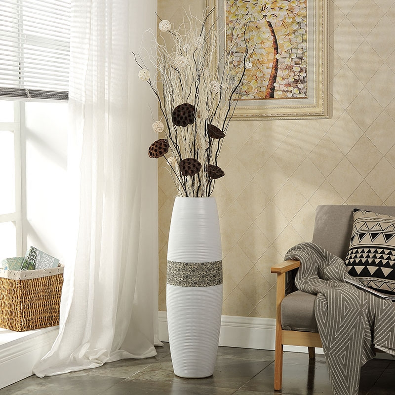 Jia gui luo 60 cm / 80 95 minimalist style European style floor vase design, simple lines and smooth gifts for friends