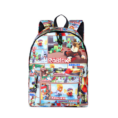 Mr.Weng Green Module Printed Canvas Backpack For Girl and Children