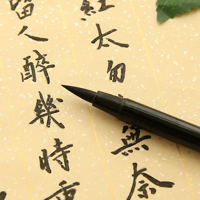 Kalligraafia pliiatsid musta tindiga