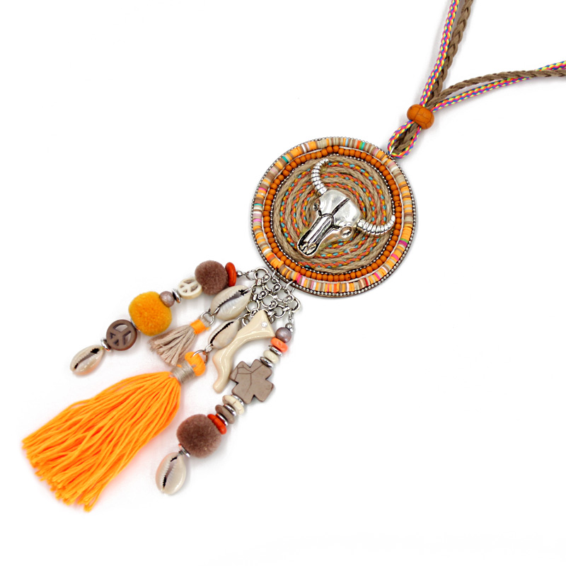 VONNOR Jewelry Handmade Halskette Damen Böhmen Accessoires Quaste - Modeschmuck - Foto 4